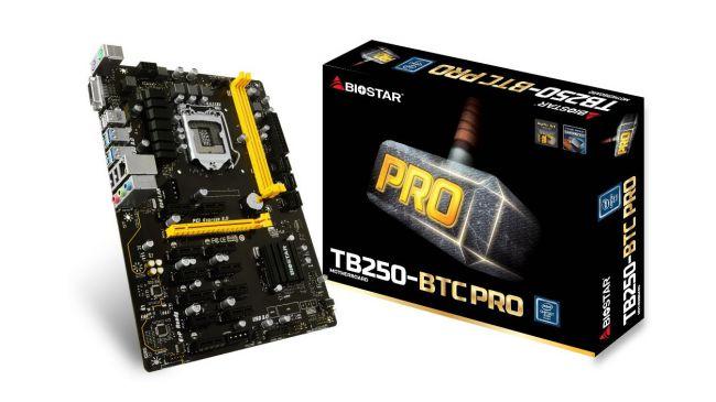 Материнская плата для майнинга - Biostar TB250-BTC Pro