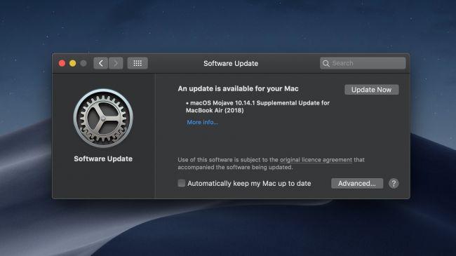 Обновление macOS Mojave 10.14.1
