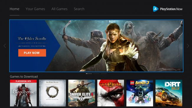Игры в PlayStation Now