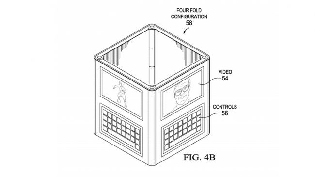 Концепция Dell устройства с четырьмя экранами