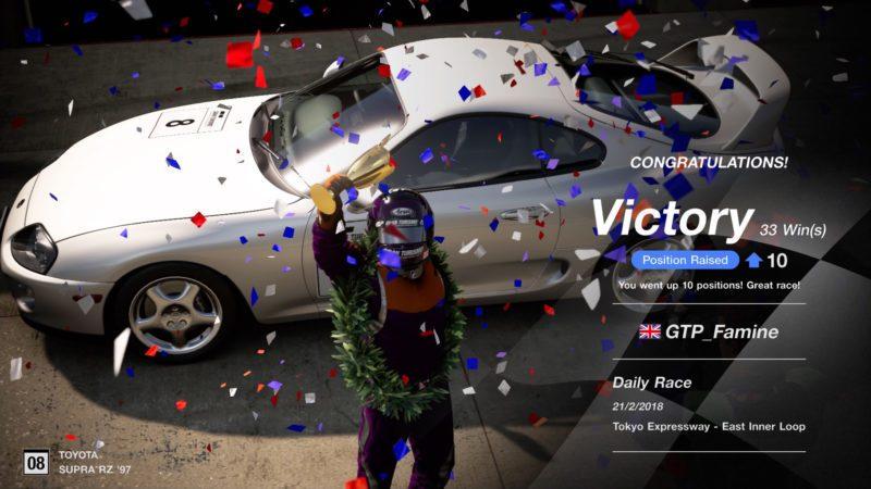Gran Turismo Sport - Победа