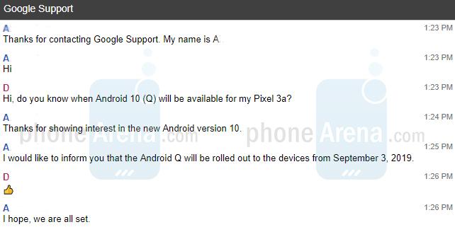Чат по Android 10