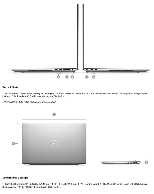 Dell XPS 15 (2020) и XPS 17 (2020)
