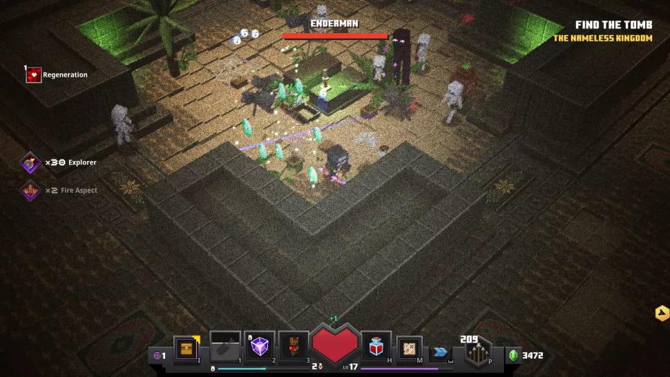 Игровой процесс Minecraft Dungeons