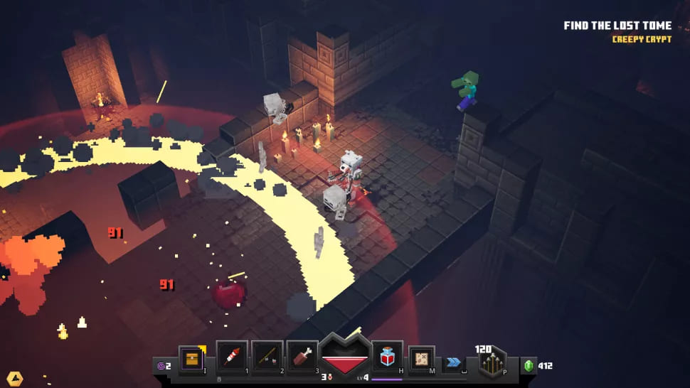 Подземелья в Minecraft Dungeons