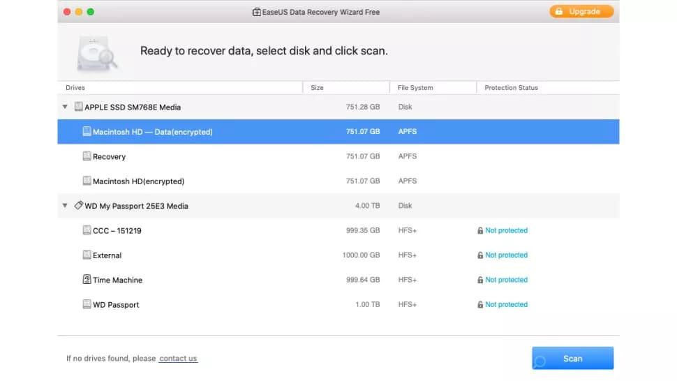 Восстановление данных с EaseUS Data Recovery Wizard