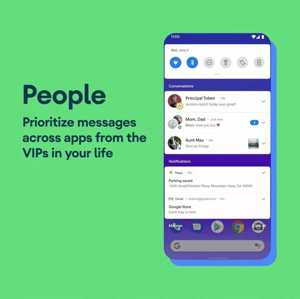 Управление сообщениями в Android 11