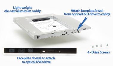 Комплект замены DVD-привода ноутбука SSD или HDD