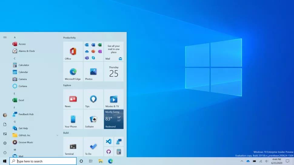 Новое оформление Пуск в Windows