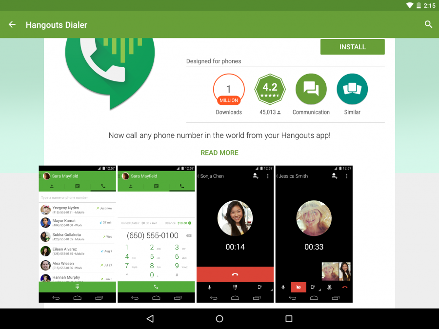 Hangouts в Android 5