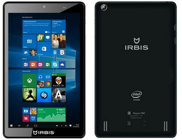 Планшет Irbis TW81 на Windows 10