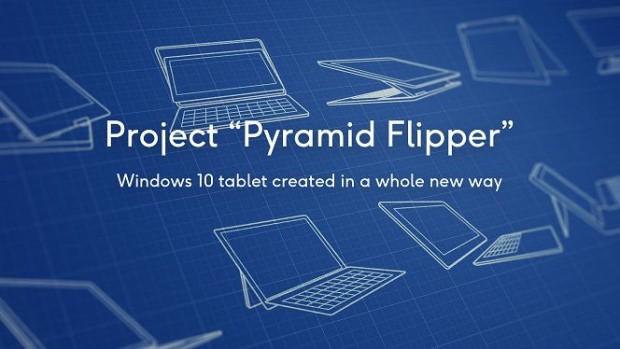 Проект Pytamid Flipper. Планшет на Windows 10