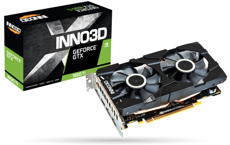 Видеокарта Inno3D GeForce GTX 1660 Ti Twin X2