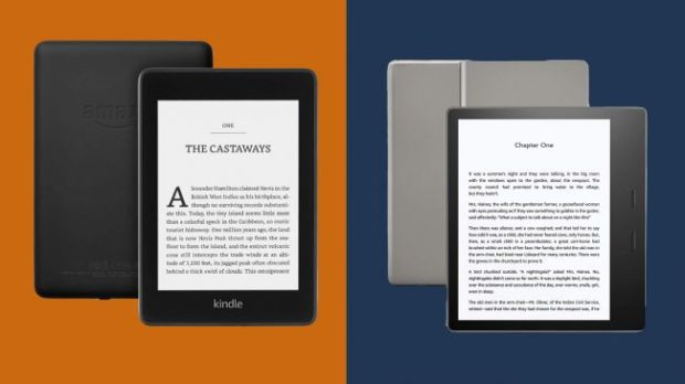 Сравнение Amazon Kindle Paperwhite против Kindle Oasis