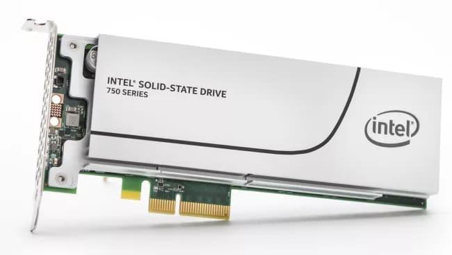 SSD Intel с подключением PCIe
