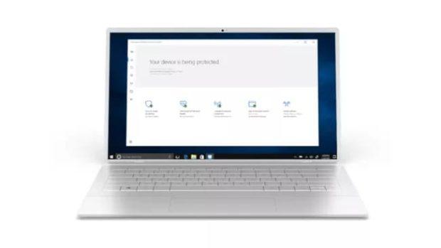 Защитник Windows на ноутбуке