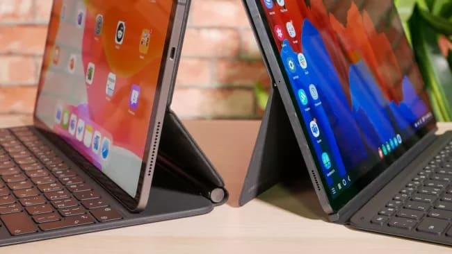 iPad Pro 12.9 и Galaxy Tab S7 Plus