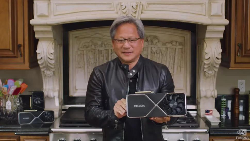 Дженс Хуанг и Nvidia GeForce RTX 3090
