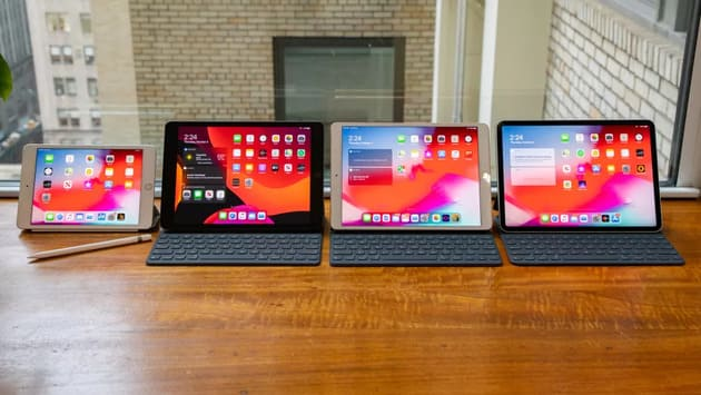Планшеты iPad последних лет