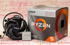 Процессор AMD Ryzen 5 3400G, коробка и кулер