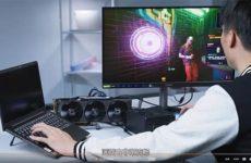 Nvidia RTX 3090 подключена к ноутбуку