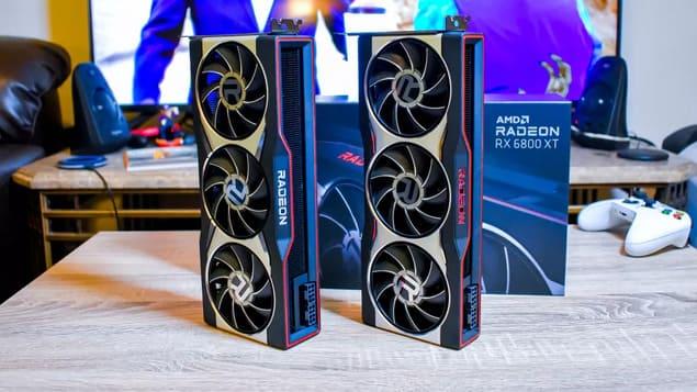 Две видеокарты AMD Radeon RX 6800 XT