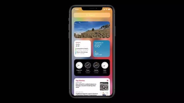 Стек виджетов в iOS 14