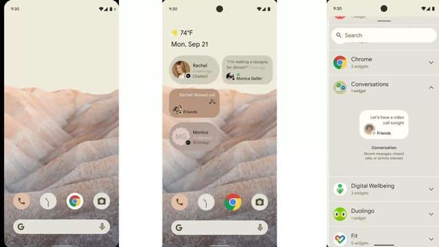 Функции Android 12