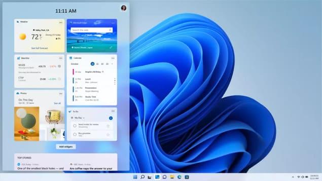 Виджеты в Windows 11