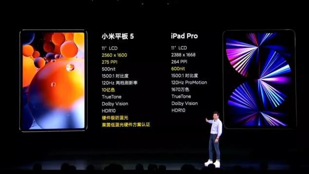 Сравнение Xiaomi Mi Pad 5 и iPad Pro