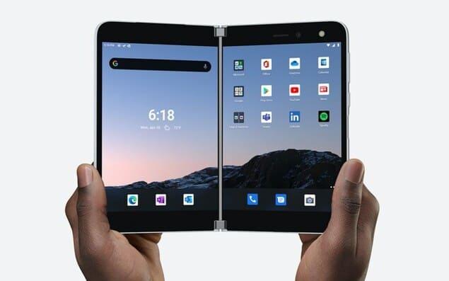 Раскладной гибкий планшет Microsoft Surface Duo