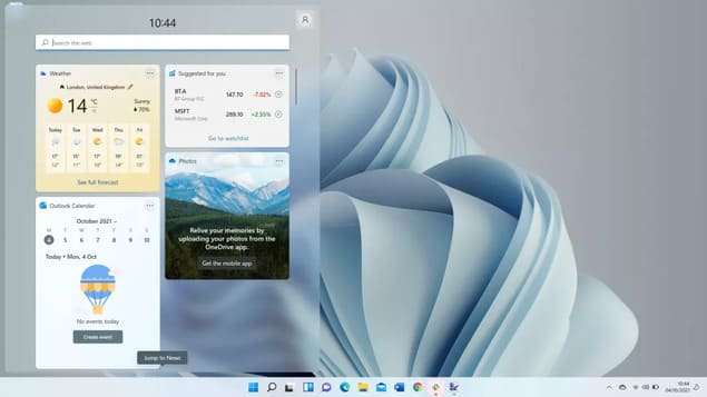 Меню Пуск в Windows 11