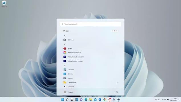 Поиск приложений в Windows 11
